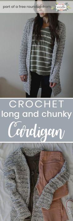 Get the free crochet pattern for this long and chunky crochet Marley cardigan from Megmade with Love featured in my crochet that looks knit FREE pattern roundup!