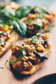 Baked Eggplant, Eggplant Recipes, Moussaka, Eggplant Caponata, Tomato Relish, Cooking Recipes, Healthy Recipes, Dip Recipes, Lunch Recipes