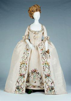 Full Dress (Open Robe and Petticoat), circa 1760s