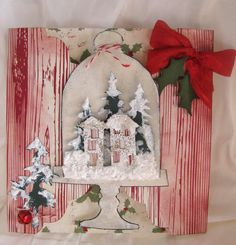 #Sizzix Tim Holtz's Bell Jar, Trees, and house die