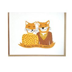 Fantastic Mr Fox, Wes Anderson, Valentines Day, Anniversary, Love card on Etsy, $4.69 AUD