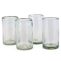 Maya Recycled Pint Glass - Clear - Set of 4 (491569166), Pint Glasses - Sustainable, Eco Friendly & Recycled | Bambeco