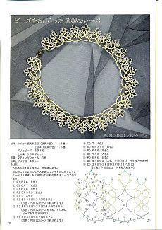 Tatting lace pattern japanese craft ebook unique edition collars PDF Instant…