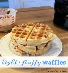 Light and Fluffy Waffles - Andrea Dekker