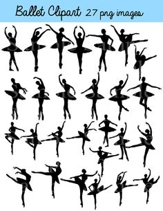 Ballett Silhouette Digital Clipart INSTANT DOWNLOAD von BridalBust