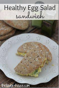 Healthy Recipes, Egg Salad Sandwich, Simple Start, Weight Watchers, breakfast recipe, breakfast ideas, easy recipes, #SimpleStart