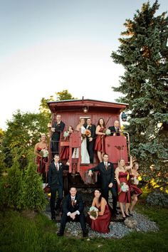 Belcroft Wedding - Train Caboose