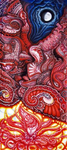 ''I love you with the fire of a thousand suns.''  art by Randal Roberts - akashic kiss