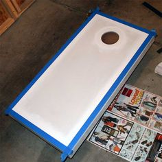 How to Paint corn hole boards