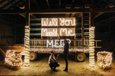 This drummer pulled off the coolest barn proposal at the end of his band's tour!