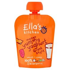 Ella's Kitchen Organic Mango Yummy Yoghurt Greek Style 6mth  (90g) *** Check this awesome product by going to the link at the image.