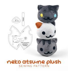 Neko Atsume Plush Sewing Pattern by SewDesuNe.deviantart.com on @DeviantArt