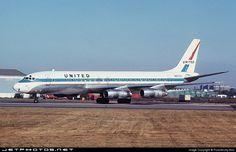 Douglas Dc 8, Douglas Aircraft, Air Lines, United Airlines, Photo Online, Aviation, Bob, The Unit, Bob Cuts