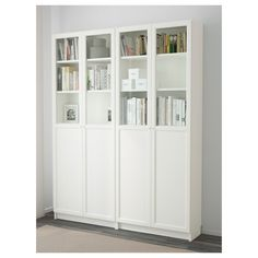 BILLY / OXBERG Bookcase, white, It is estimated that every five seconds, one BILLY bookcase is sold somewhere in the world. Pretty impressive considering we launched BILLY in Ikea Inspiration, Billy Bookcase With Doors, Bookcase White, Billy Bookcases, Bookshelves, Billy Oxberg, Kallax Shelving Unit, Ikea Shelves, Billy Ikea