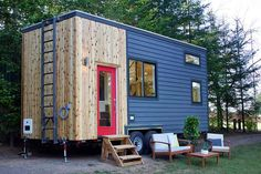 The Tiny Home and Garden was built for a Washington DC couple starting their family. The house has a main floor nursery and built-in herb garden.