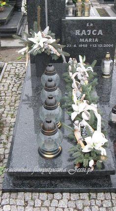 me ~ florystyka żałobna dekoracje nagrobne - Grave Flowers, Funeral Flowers, Grave Decorations, Flower Decorations, Funeral Flower Arrangements, Floral Arrangements, Unique Flowers, Fall Flowers, Small Christmas Trees