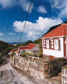 Pretty gingerbread cottages line the streets of Windwardside, one of four villages on Saba (pop. 1,600)
