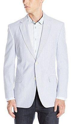 $129, Palm Beach Brock Navy Seersucker Suit Separate Jacket. Sold by Amazon.com. Click for more info: http://lookastic.com/men/shop_items/115586/redirect