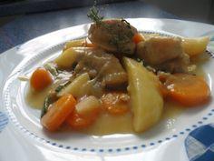 estofado de pavo con patatasy zanahorias al tomillo