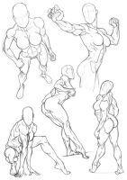 Sketchbook Figure Studies 5 by Bambs79