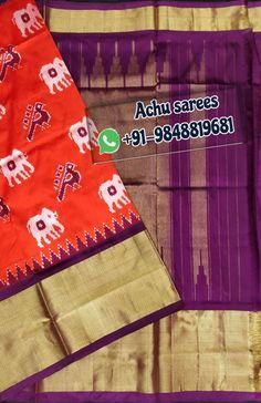 South Indian Wedding Saree, Saree Wedding, Pochampally Sarees, Ikkat Silk Sarees, Reusable Tote Bags, Pure Products