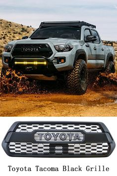 Black Front Grill for Toyota Tacoma Toyota Tacoma Lifted, Toyota Tacoma 2016, Toyota Trucks, Lifted Ford Trucks, Toyota Hilux, New Trucks, Tacoma Wheels, Tacoma 4x4, Tacoma Truck