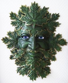 """Green Man Mask"" by Richard Svensson"