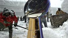 """""""Super Bowl in the Snow?"""" -- A CBS News story from 2010 predicting problems for the 2014 Super Bowl. Hmmm..."""