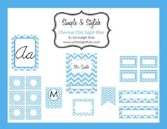 Chevron Chic Light Blue