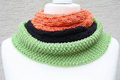 #Mode #Accessoires #Schal #3teilig #orange #grün #schwarz #Tuch  Hier ein Exemplar der Kollektion Tücher und Schals: dieses Mal ein besonders edles und elegantes Exemplar aus Wolle gestrickt....