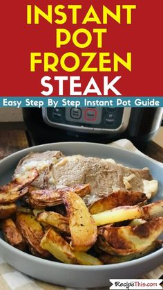 How to instant pot frozen steak. Time to make the most delicious tender steak you have ever tried in your instant pot. Clean Dinner Recipes, Clean Eating Dinner, Clean Eating Recipes, Steak Recipes, Paleo Recipes, Cooking Recipes, Candida Recipes, Free Recipes, Soup Recipes