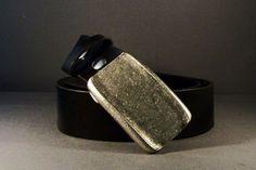 Black Leather Belt Antique Silver On Black by 4MLeatherDesign, $76.00