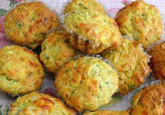 Peynirli ve kabakli muffin