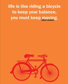 Albert Einstein Cycling Quote Print by pedalprints on Etsy