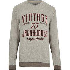 Grey Jack & Jones Vintage sweatshirt - sweatshirts - hoodies / sweatshirts - men