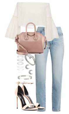"""""""Untitled #4123"""" by theeuropeancloset ❤ liked on Polyvore featuring Yves Saint Laurent, Rosetta Getty, Tom Ford, Givenchy, Cartier and Belk Silverworks"""