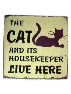 Work Quotes: QUOTATION – Image : Quotes Of the day – Description Vintage Cat Kitten Pet Iron Metal Wall Door Sign Plaque: Sharing is Caring – Don't forget to share this quote ! Cat Quotes, Animal Quotes, Work Quotes, Vintage Cat, Crazy Cat Lady, Crazy Cats, Kitsch, Gatos Cats, Cat Signs