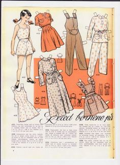 Danish paper dolls called Relaxed Clothing, same as the next group. / dukkesiderne.dk