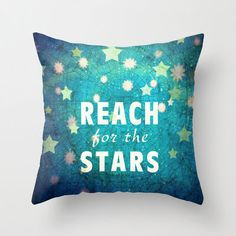 decorative pillow cover-home decor- stars- blue- night sky- typography- inspiring quote- gift idea by sandraarduiniphoto on Etsy https://www.etsy.com/listing/129748953/decorative-pillow-cover-home-decor-stars
