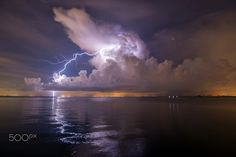 Lightning over Tampa Bay by Greg Urbano on 500px