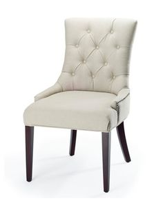 """Amanda"" Linen Dining Chair at Neiman Marcus."
