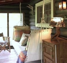 hammock bed on screened porch