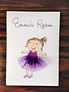 Happy Girl...3D Wall Art...Tulle by SweetCheeksImages on Etsy