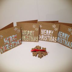 Christmas cards Cut Out Cards Handmade by PrettyPapercraftUK