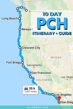 The Ultimate Pacific Coast Highway Road Trip Guide Pla. - The Ultimate Pacific Coast Highway Road Trip Guide Planning a Pacific Coa - Pacific Coast Highway, Highway Road, West Coast Road Trip, Road Trip Packing List, Road Trip Map, Oregon Road Trip, Road Trip Hacks, Road Trips, Oregon Coast Roadtrip