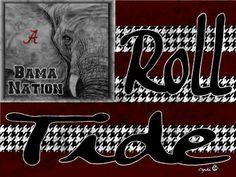 Alabama Crimson Tide Wallpaper   Via Cynthia Warren