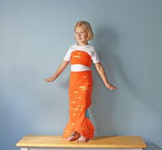 Orange Mermaid Costume Tail and Top Halloween Kids Costume Bubble Guppies Fairy Tale Dress Up.  sc 1 st  Pinterest & The 89 best Bubble guppies images on Pinterest   Guppy Bubble ...