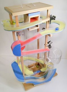 Diy And Crafts, Crafts For Kids, Arts And Crafts, Wood Architecture, Cardboard Crafts, Home Schooling, Organization, Activities, Play