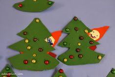 Askartelun iloa: Kuusen takaa kurkkiva tonttu Christmas Crafts To Make, Christmas Tree, Christmas Ornaments, Holiday Decor, How To Make, Kids, Home Decor, Teal Christmas Tree, Xmas Ornaments