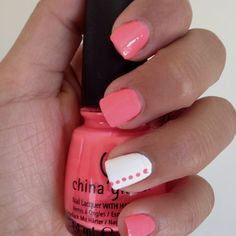 Nail art with my favorite China Glaze shade. Flip flop frenzy.